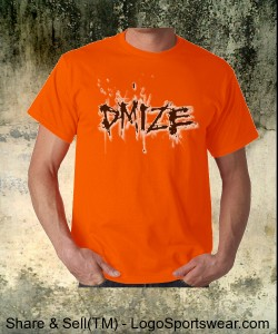 DMIZE - LOGO - NO BACK - ORANGE Design Zoom