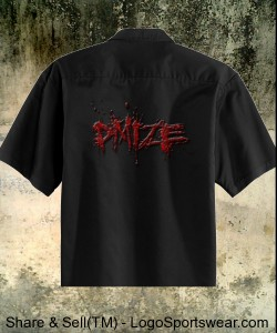 "DMIZE - RETRO DRESS SHIRT - ""THE CHARLIE SHEEN"" Design Zoom"