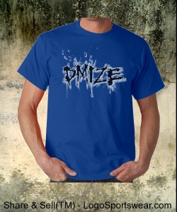 DMIZE - LOGO - NO BACK - BLUE Design Zoom